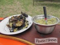 Bondiola de cerdo, puré de batatas y reducción de cerveza
