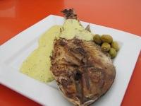 Pesca de mar marinada y mayonesa de oliva