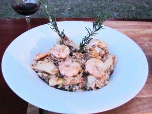 Calamares y arroz al disco / Mejillones a la provenzal